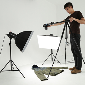 Image 5 - Aluminum 3/8 Screw Support Tripod Arm Rock Solid Cross Bar Side Arm for 4 Heads Head Professional Photography Studio Fixtures