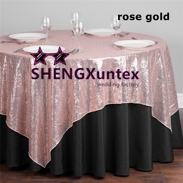 Sequin Table Overlay For Wedding Table Cloth Decoration