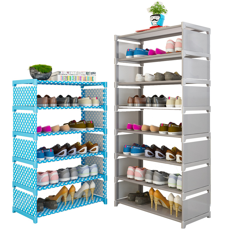Simple Shoe Rack Home Easy Assembly Nonwoven Shoes Shelf Furniture Entryway Storage Organizer Space Saving Shoe Cabinet