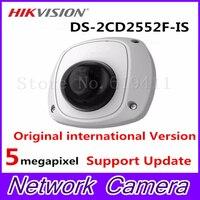2017 HiK English Version 5MP Mini Dome CCTV Camera DS 2CD2552F IS Mini Dome IR Network