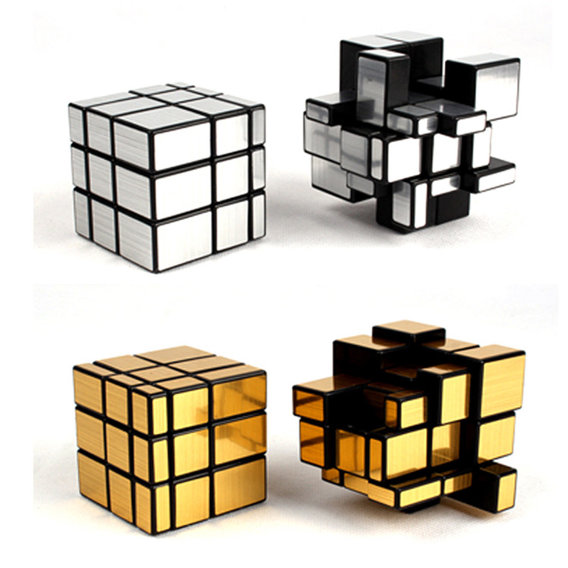 Children Magic Cube Third-order Mirror Shaped Creative Kids Puzzle Maze Toy Popular Adult Decompression Artifact Toys T0711