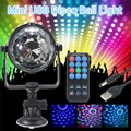 Mini RGB LED Stage Light 3W Remote Controls Light Disco Ball Lights LED Party Lamp Show Stage Lighting Effect USB Powered DV 5V