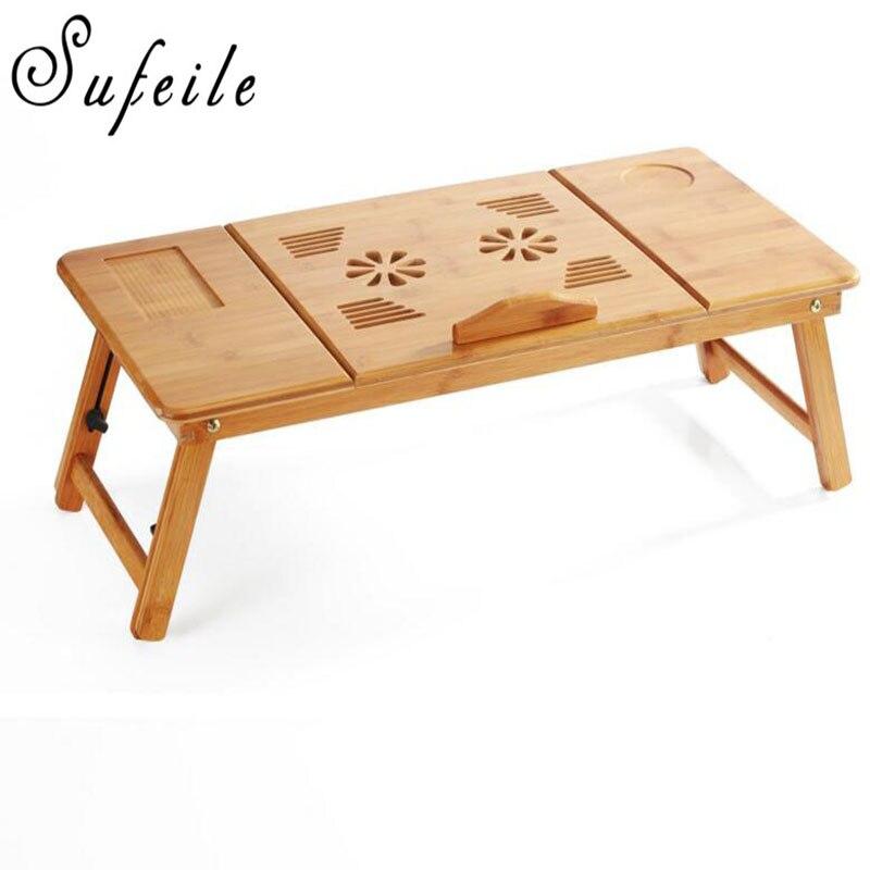 sufeile обучения портативный ноутбук стол Natural Bamboo ноутбук стол регулируемая высота Squad стол компьютер стол д5