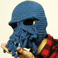 Handmade Funny Animal Cthulu Beards Octopus Hats caps Crocheted Tentacle Beanies Men's Women's Unisex Halloween Birthday Gifts