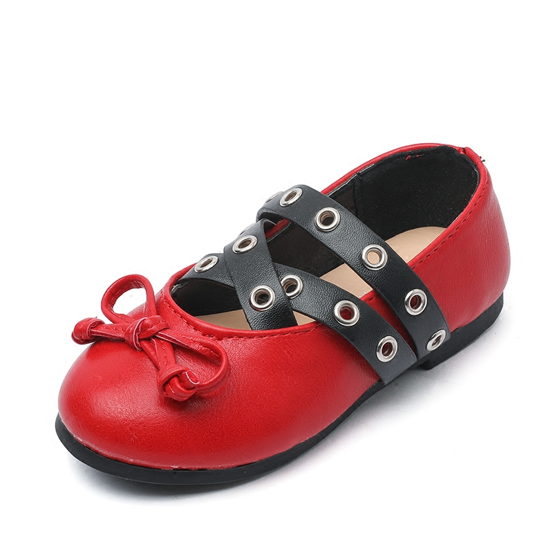 2018 New Style girls leather straps shoes fahion princess PU shoes childrens dance shoes childrens casual footwear 17N1120