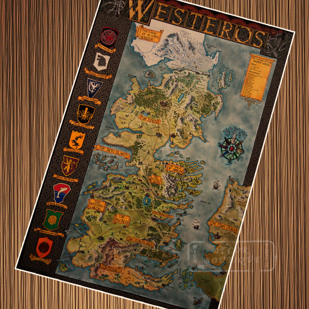 US $3.14 21% OFF|Vintage Game of Thrones Map Westeros House Retro Poster on game of thrones ireland map, game of thrones map print, game of thrones map wallpaper, game of thrones detailed map, game of thrones map clans, westeros cities map, game of thrones map of continents, game of thrones map poster, game of thrones world map printable, game of thrones map the south, crown of thrones map, game of thrones map official, from game of thrones map, harrenhal game of thrones map, game of thrones astapor map, the citadel game of thrones map, game of thrones essos map, game of thrones subway map, game of thrones map labeled,