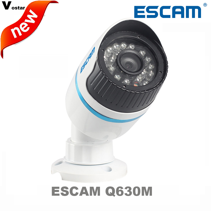 ФОТО free shipping ESCAM Q630M ONVIF 720P Network Mini IR Bullet Camera H.264 P2P  Outdoor Camera IP66 Waterproof  Web Camera