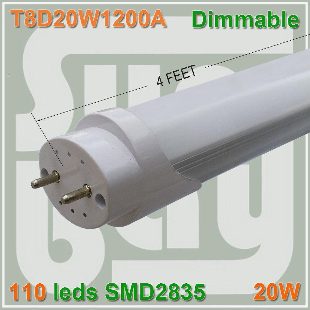 50pcs lot free shipping Dimmable font b LED b font font b TUBE b font T8