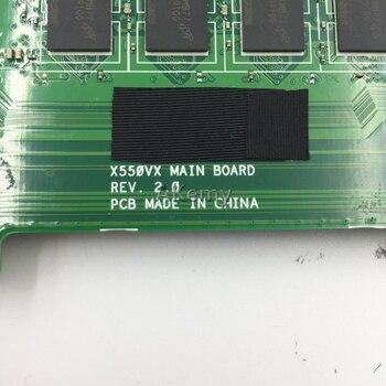 Akemy X550VX Laptop Motherboard For ASUS X550VX X550VQ K550VX FH5900V Mainboard REV 2.0 GTX950M 4GB RAM I7-6700HQ