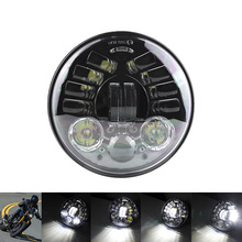 "FADUIES  5.75 inch Motorcycle headlight Led Headlights 5 3/4"" H4 Adaptive Cornering Headlamp For Harley Sportsters XL XG XR"