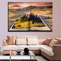 1 Pcs Castle Pastoral Landscape Canvas HD Prints Poster Wall Art Pictures Framework Paintings For Living Room Poster Vintage