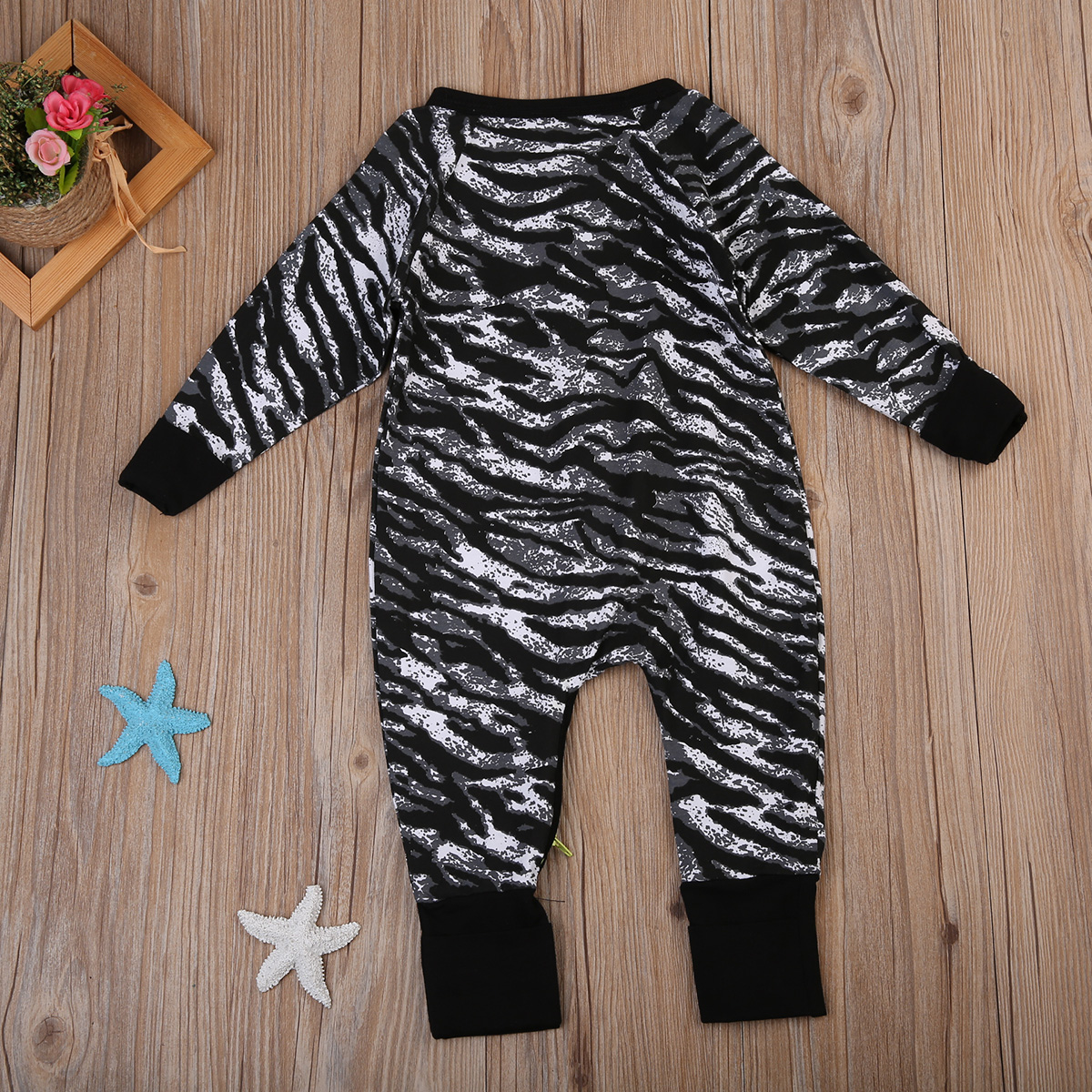 Fashion Newborn Baby Boys Cotton One-Piece Leopard Print Long Sleeve Romper Clothes Jumper Kids Playsuit Clothing Outfits 0-2Y