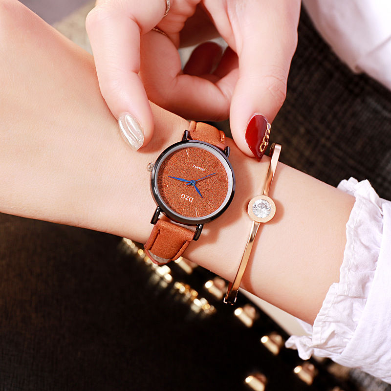 Simple dial design women watches luxury fashion dress quartz watch popular brand pink ladies leather wristwatch Hot sale gift in Women 39 s Watches from Watches