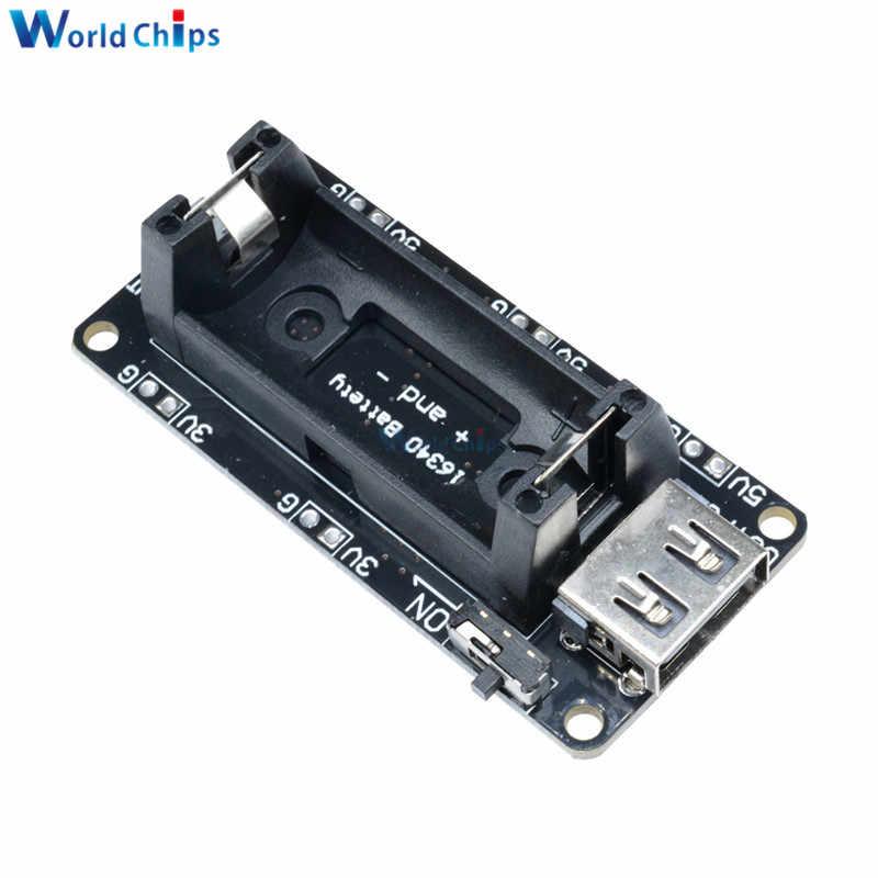 ESP32 ESP8266 double sortie 18650 batterie au Lithium bouclier V3/V8 Micro USB 5 V/3A 3 V/1A chargeur portatif batterie charge pour Raspberry Pi