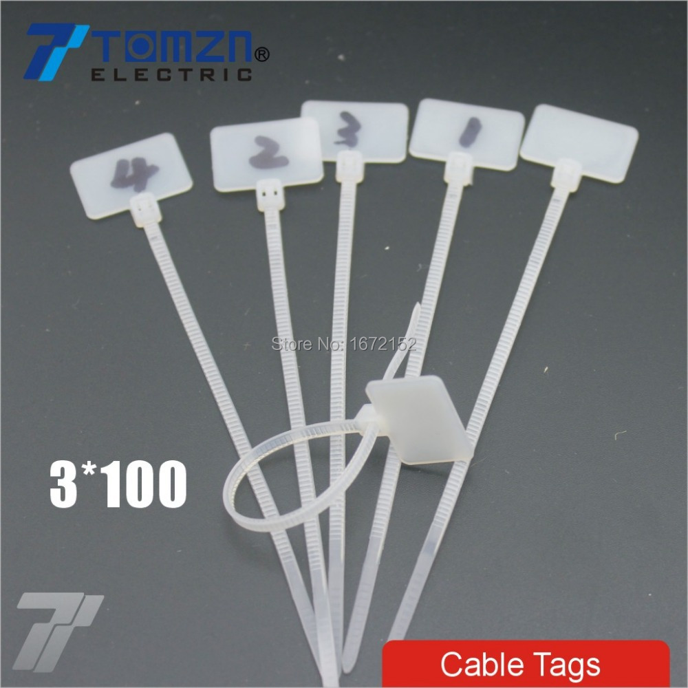 ③100pcs 3mm*100mm Nylon cable ties tags for On Ethernet RJ45 RJ 12 ...