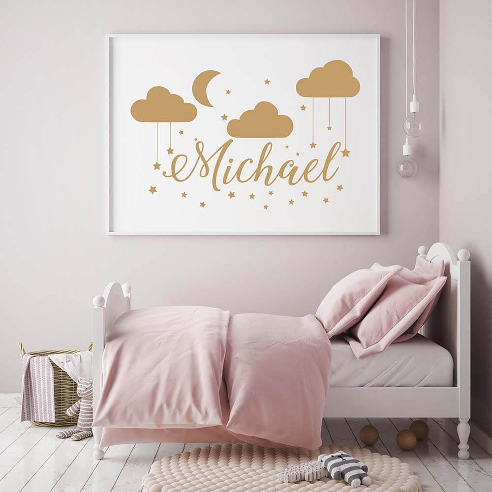 Alphabet Wall Stickers Boys Girl Decal Kids Nursery Decor Gift Art LC