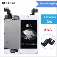 AAA Quality LCD Display For Iphone 5s A1533 A1453 A1457 Touch Screen Digitizer Full Assembly Home