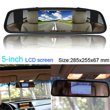 2in1 Multi 5″ LCD Screen Car Rear View Backup Parking Mirror TV/GPS/DVD Monitor