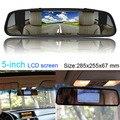 """Fochutech 2en1 5 """" pantalla LCD de visión trasera de copia de seguridad espejo TV / GPS / DVD / Monitor"""