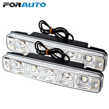 FORAUTO Car DRL Super Bright Universal Car Lights 5 LEDs Daytime Running Light Waterproof Car Styling Auto Lamps(China)