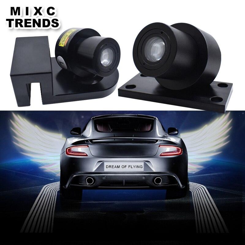 2 pièces fantôme ombre lumière LED bienvenue lampe voiture ange ailes lumières Logo Laser projecteur voiture LED porte avertissement pour BMW Honda
