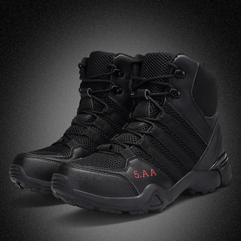 2018 Men Hiking Boots SWAT Outdoor Sport Shoes Black Mesh Climbing Hunting Tactical Combat Boots Military Sneakers Trekking