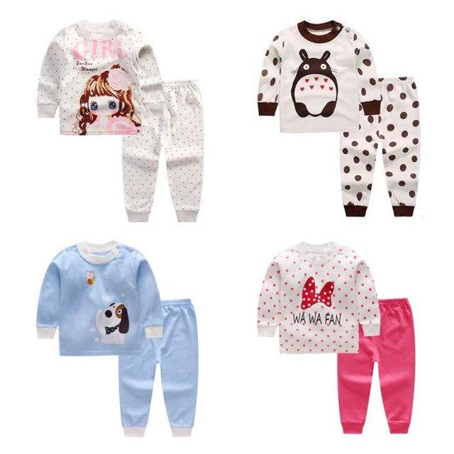 3-24M baby sleepwear set kids pajamas baby pajamas boys girls animal pyjamas pijamas cotton nightwear