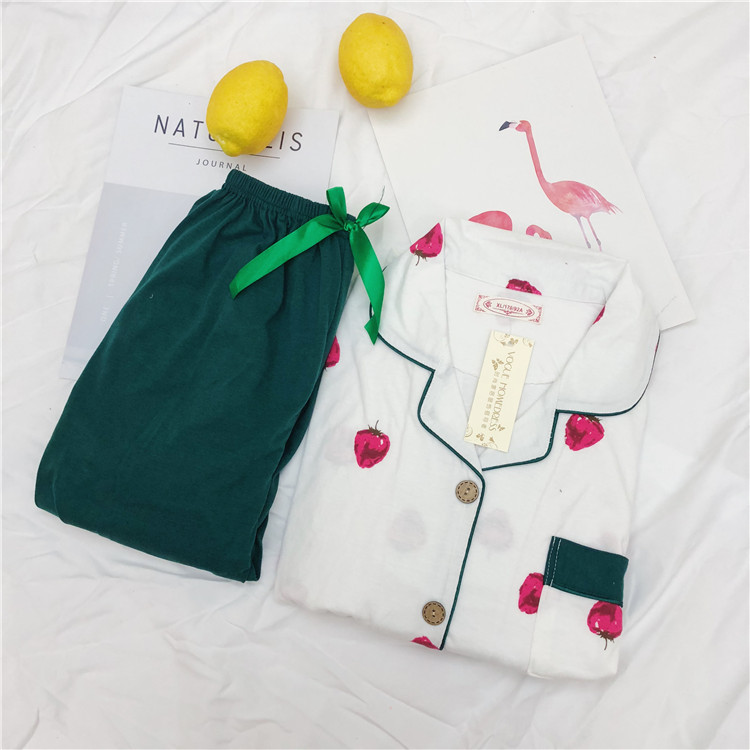 Cotton Women 2piece Pijama Sleepwear Cartoon Winter Womens   Pajama     Sets   Cotton Women Sleepwear Nightwear Autumn Warm   Pajamas     Sets