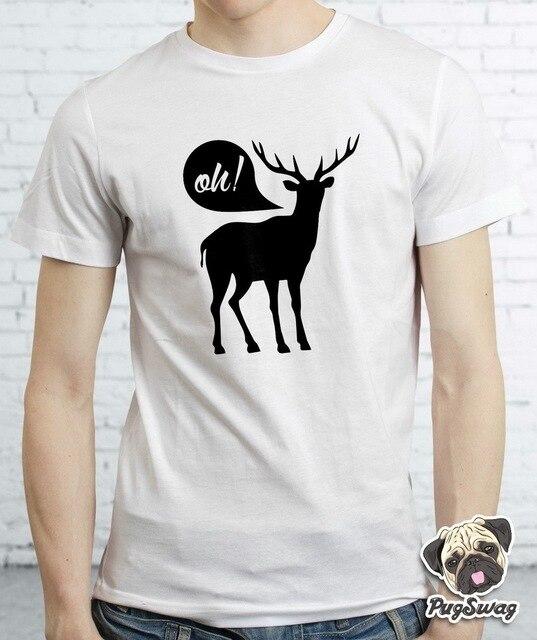 Oh Deer Designer Graphic Funny Tshirt T shirt Tee Cotton Mens Dear ...