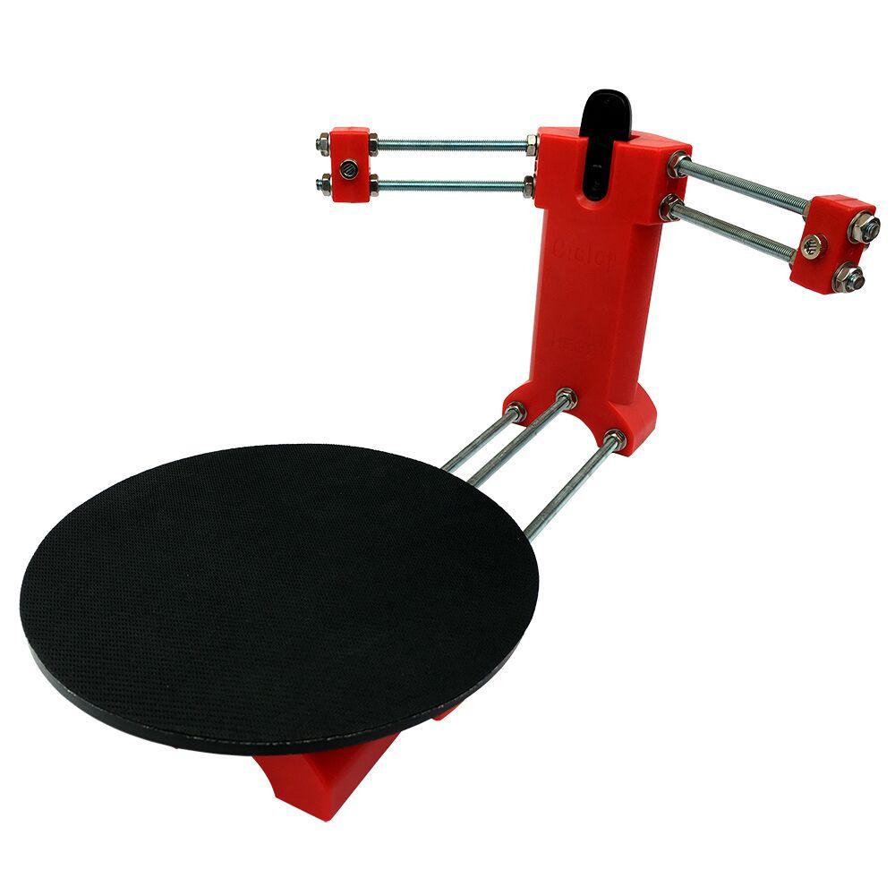 HE3D selbst-adhesive non slip mat Gleitschutz membran gummi schwarz durchmesser 20 cm dicke 2mm für ciclop 3d scanner plattform tisch