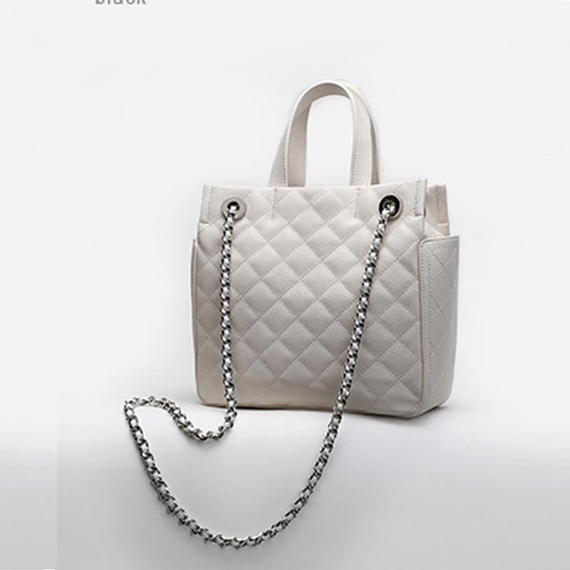 Ol Gentlewomen Style À Sacs Exclusive Diamant Épaule Célèbre Sac Marque Femmes Saffiano Noir 2018 blanc Lattice Simple Main Lady rose 5Zx6qZwE