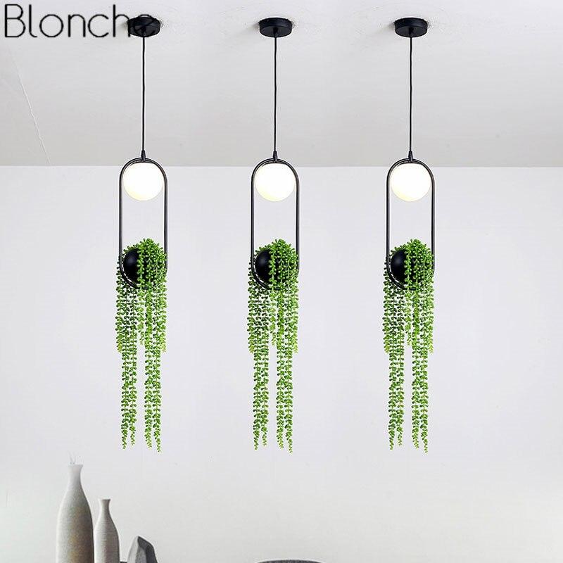 Nordique bricolage plante pendentif lumières Skygarden lampe à LED Pot de fleur suspension lampe salle à manger Restaurant luminaires décor à la maison
