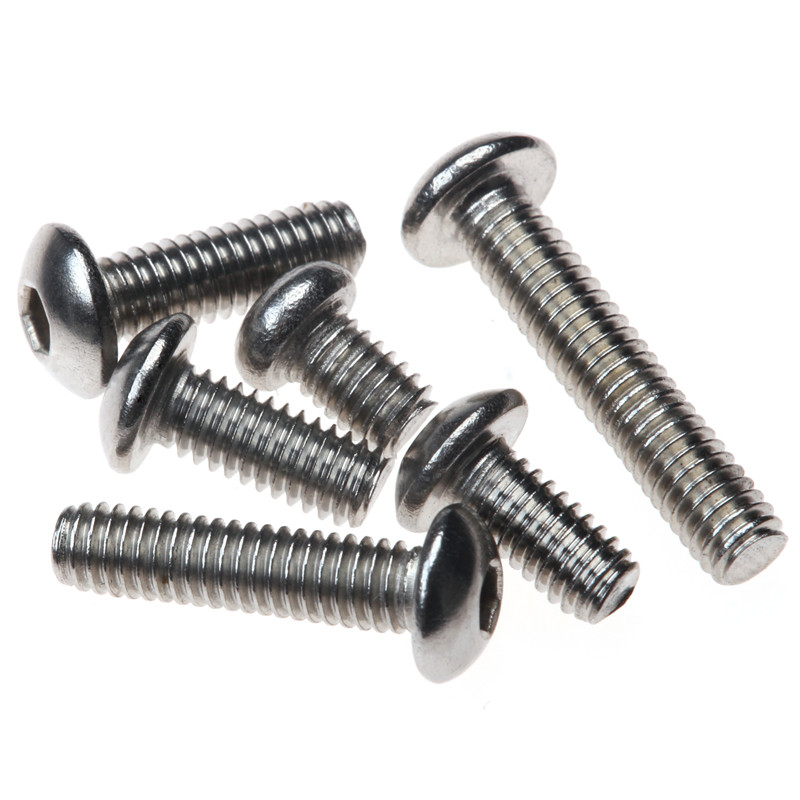 150PCS Stainless Steel M4*6/8/10/12/16/20 Hexagon Socket Round Head Cap Screw Furniture Fastener Bolt with Box 60pcs box stainless steel m4 screw kits hex socket head cap screws m4 6 8 12 16 20 25mm fastener assortment kit hardware tools