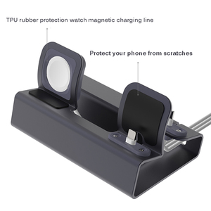 Image 5 - NEW Aluminum 3 in 1 Charging Dock For iPhone X XR XS Max 8 7 Apple Watch Charger Holder For iWatch Mount Stand Dock Station