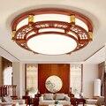 Китайские лампы для гостиной прямоугольные светодиодные потолочные лампы для ресторанов отели сплошные деревянные потолочные светильник...