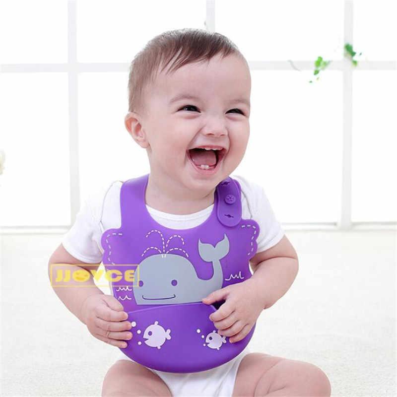 Bayi Tahan Air Silikon Makan Oto Bayi Adjustable Lembut Bib Newborn Kartun Celemek Bayi Makanan-Grade Silikon Oto