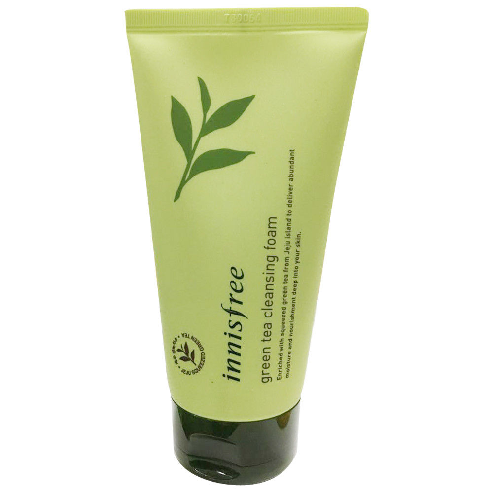 Korea Cosmetic Green Tea Cleansing Foam 150ml Facial Cleanser Black Head Remove Oil-control Deep Cleansing Foam Shrink Pores