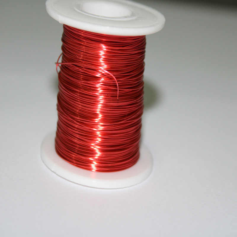 100m*0.2mm QA Red Polyurethane Enameled Copper Wire For Inductance Coil
