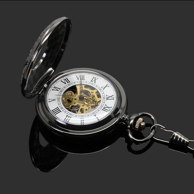 Do vintage Preto Clássico Relógios Em Aço