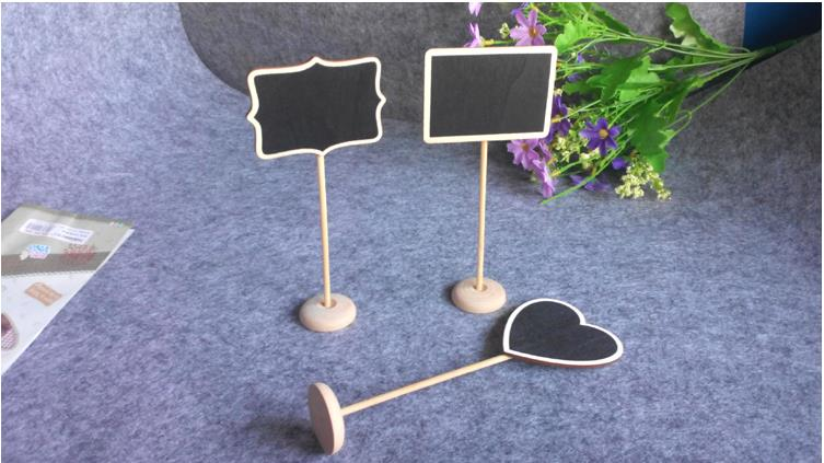 wholesale 2016 wood craft Wedding Party Table Numbers, Wedding blackboard ,Chalkboard Blackboard with Stand wood message board