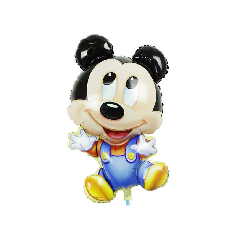 Globo gigante de 112cm de Minnie Mickey para fiesta de cumpleaños, juguetes clásicos para niños, regalos, globos de papel de aluminio con dibujos animados, decoraciones para fiesta de bienvenida al bebé