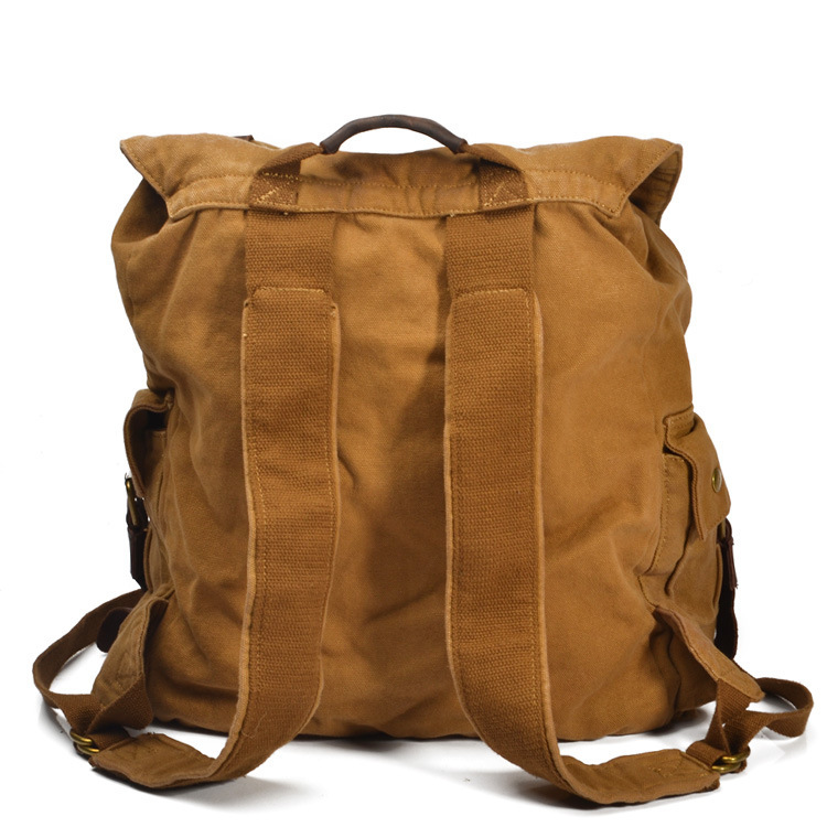 European Restore Ancient Oilskin Leather Canvas Tourism Both Package Travel  Backpack Super Capacity Tide Men And Package-in Backpacks from Luggage    Bags on ... 156351aeac046