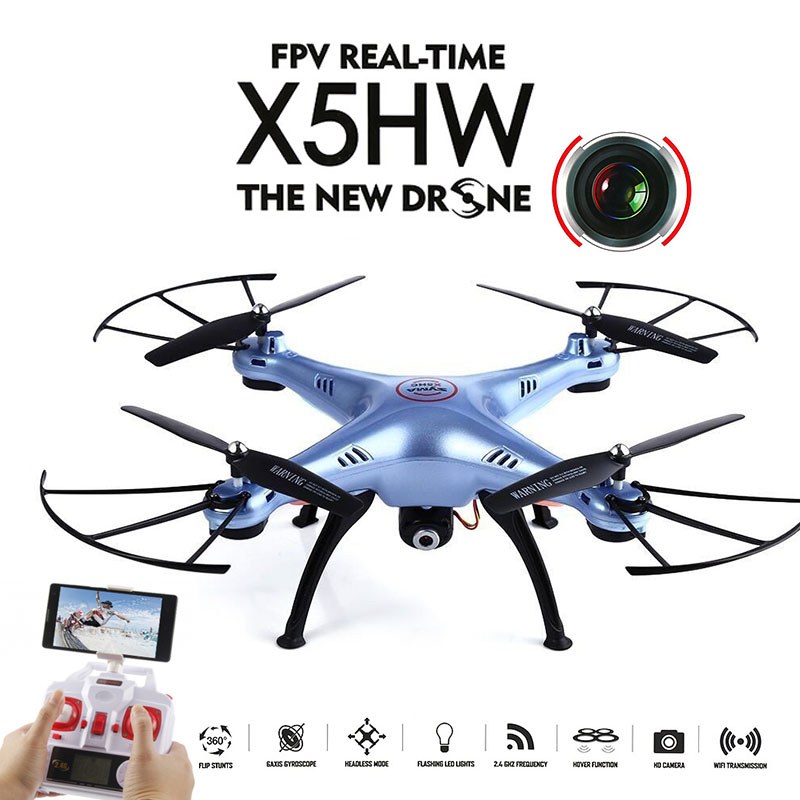 Original Syma X5HW (X5SW Upgrade) FPV RC Drone with WiFi Camera RC Quadcopter with LED Light Headless Model Dron RTF Gift Toy syma x8w fpv rc quadcopter drone with wifi camera 2 4g 6axis dron syma x8c 2mp camera rtf rc helicopter with 2 battery vs x101