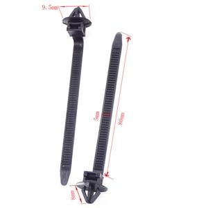 Image 5 - Xiaobaishu 50 Stuks Auto Kabel Bevestiging Ties Nylon Zwarte Auto Auto Kabel Strap Push Mount Draad Tie Retainer Clip Klem voor Alle Auto S