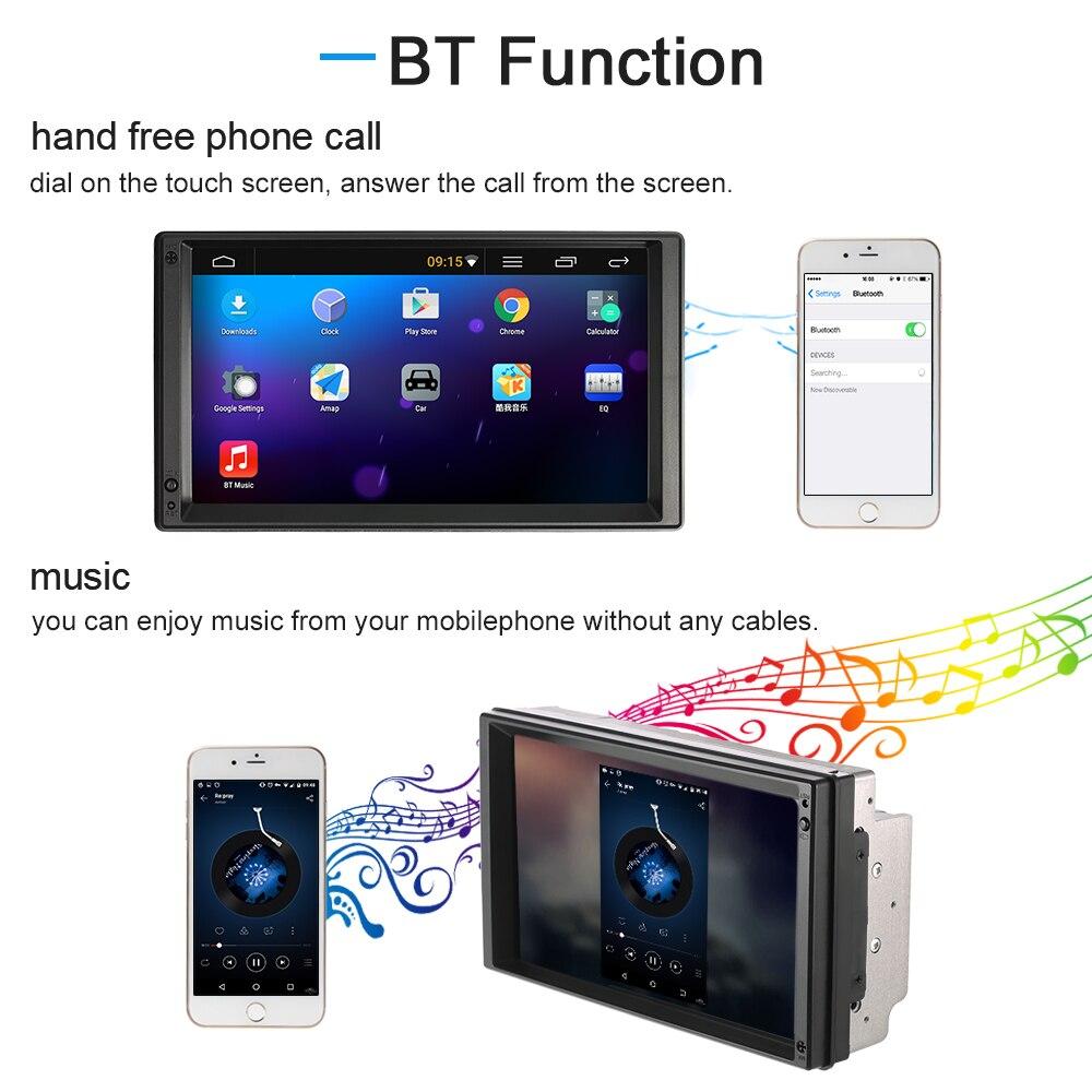 7 Универсальный 2 DIN Автомобильный видео/mutimedia игрока gps-навигация для Android 5.1 Стерео Авторадио развлечений HD сенсорный экран BT Wi-Fi