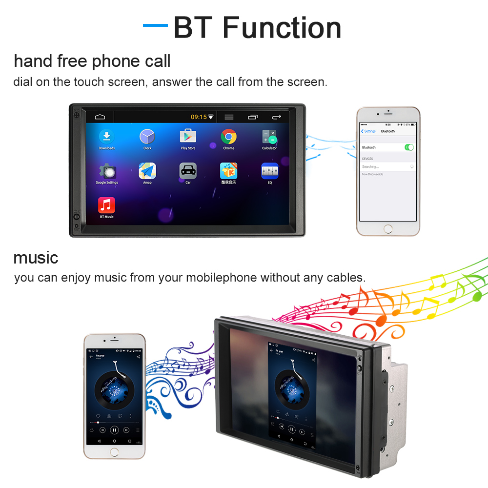 7 quot universal 2 din car mutimedia player gps navigation android 5 1 stereo autoradio
