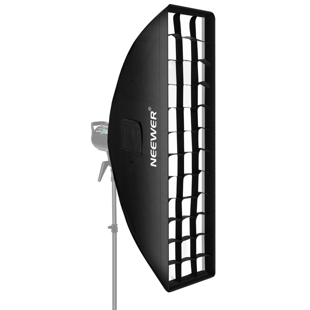 Neewer 8 x 36 inches/20 x 90 centimeters Honeycomb Softbox Bowens Mount Softbox with Grid for Studio FlashNeewer 8 x 36 inches/20 x 90 centimeters Honeycomb Softbox Bowens Mount Softbox with Grid for Studio Flash