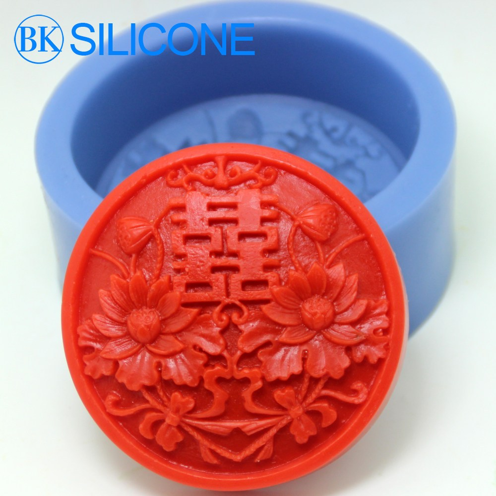 double happiness silicone soap mold Cake mould rtv silicone rubber BKSILICONE