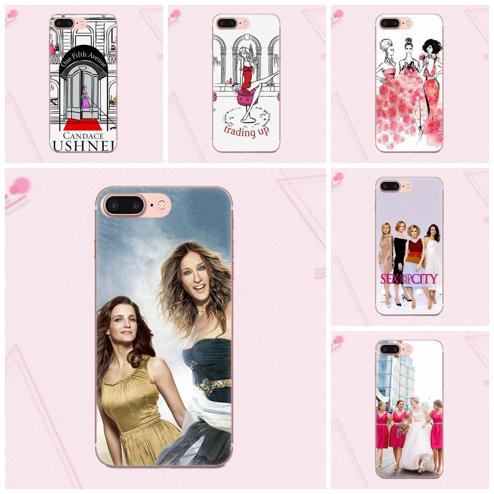 Soft Phone <font><b>Case</b></font> Cover <font><b>Sex</b></font> And The City For Apple <font><b>iPhone</b></font> X 4 4S 5 5C 5S SE 6 6S <font><b>7</b></font> 8 <font><b>Plus</b></font> image