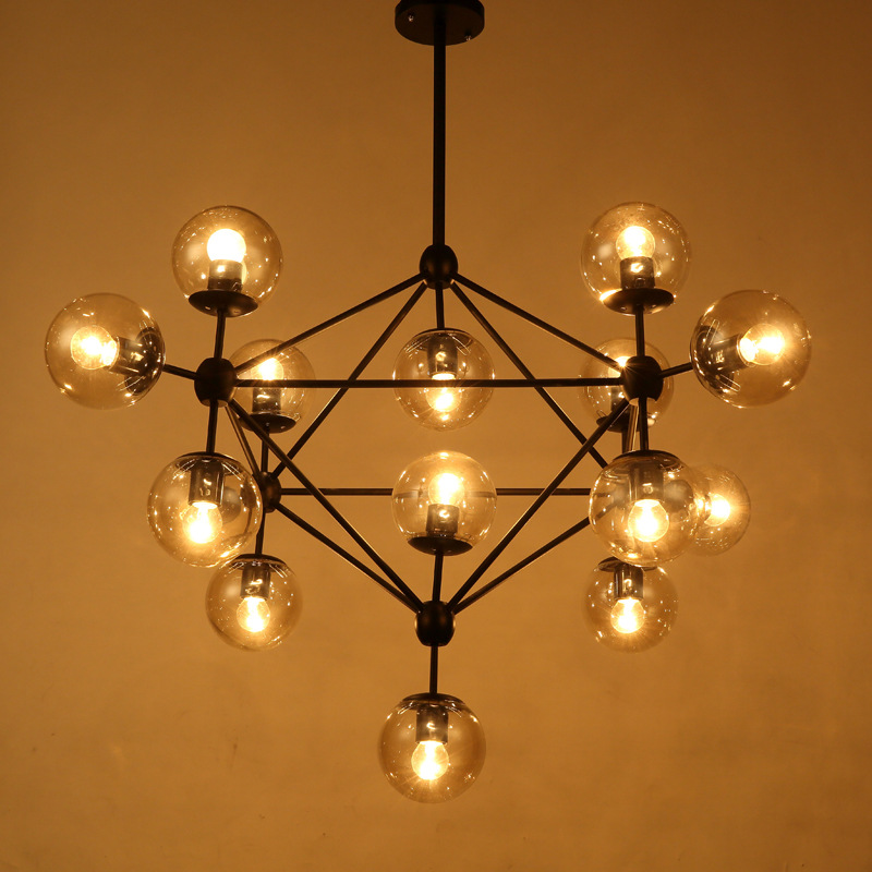 5/10/15 Heads Magic Bean Led Pendant Lights Living Dining Room Shop Moderb Glass Ball Pendant Lamp Lighting Fixtures WPL221 a1 master bedroom living room lamp crystal pendant lights dining room lamp european style dual use fashion pendant lamps